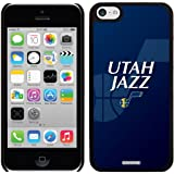 Utah Jazz - Logo Watermark design on a Black iPhone 5c Thinshield Snap-On Case by Coveroo