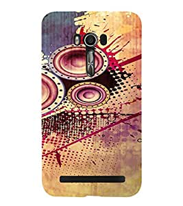 PrintVisa Modern Art Speaker Bass Design 3D Hard Polycarbonate Designer Back Case Cover for Asus Zenfone Go