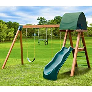 Eastern Jungle Gym Deluxe Cedar Swing Set