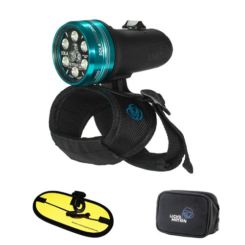 Light & Motion Sola Dive 2000 Led Light With Large Handstrap And Free Float Strap