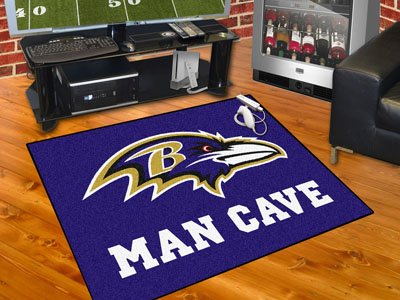 "Baltimore Ravens Man Cave All-Star Rug 34""x45"" - FAN-14268"