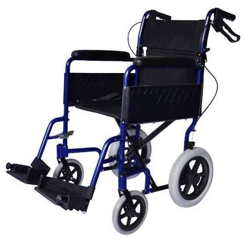 Alluminio leggero transito pieghevole sedia a rotelle viaggi di freno a mano - Pesa solo 11 kg