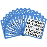 50 Blue Bingo Cards with Unique Numbers by Royal Bingo Supplies