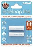Sanyo eneloop lite 600mAh 2pcs AAA Rechargeable Batteries