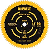 DEWALT DW3232PT Precision Trim 12-Inch 80 Tooth ATB Crosscutting Saw Blade with 1-Inch Arbor and Tough Coat Finish (Tamaño: 12