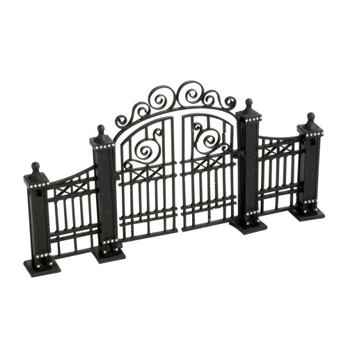 Black City Hinged Gate - Hand Painted