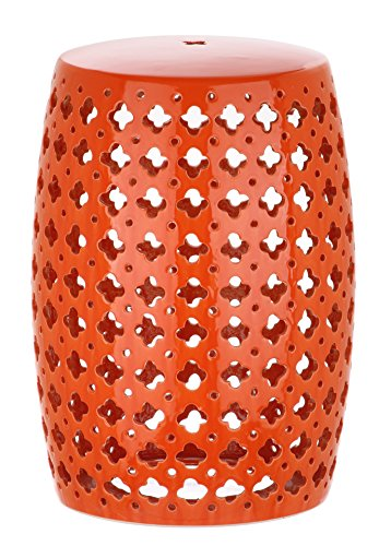 Safavieh Castle Garden S Collection Glazed Ceramic Orange