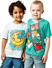 2 Pack Short Sleeve Mr. Men&#8482; T-Shirts
