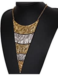 Dhrohar Diva Gold And Silver Alloy Multilayer Geometric Triangle Vintage Necklace For Women