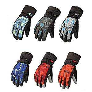 Aisster Unisex Winter Ski Snowboard Snow Sports Thermal Waterproof Mens Womens Gloves(6 colors)