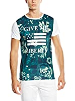 American People Camiseta Manga Corta Acelin (Verde / Blanco)