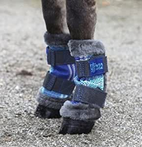 Kensington KPP Miniature Horse Fly Boots, Blue Ice Plaid, Mini