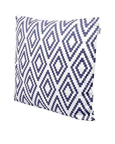 Glam Home Cojín Aref 60 x 60 cm Blanco / Azul