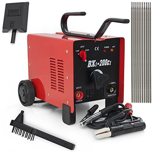 Great Features Of ARKSEN© ARC Welder 200AMP Machine Fan Cooled, Single Phase, Dual 110/220V, Red