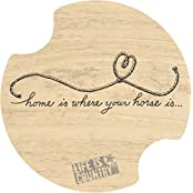 Set Of Two Home Is Where Your Horse Is... Car Drink Coasters - Style Dlic20