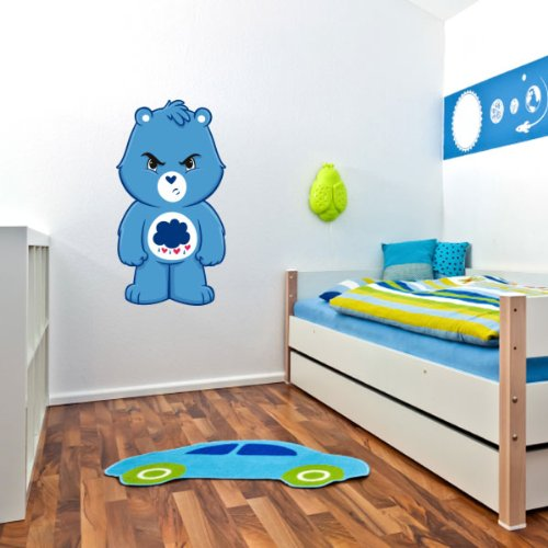 """Care Bears Grumpy Bear Wall Graphic Decal Sticker 28"""" X 15"""" front-237339"""
