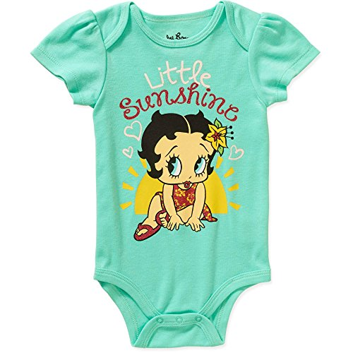 [Betty Boop Little Sunshine Baby Girls Bodysuit Dress Up Outfit (3-6 Months, Turquoise)] (Betty Boop Outfit)