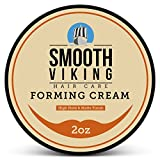 Forming Cream for Men - Hair Styling Cream for High Hold & Matte Finish - Best Pliable Formula for Modern, Classic & Slick Styles - Great for Short, Long & All Other Hair Types - 2 OZ - Smooth Viking