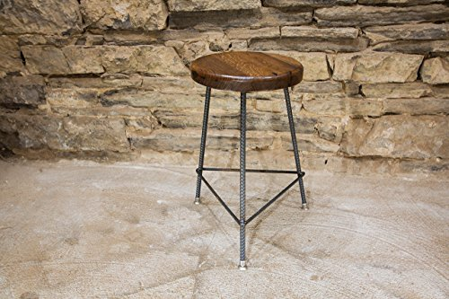 The Factory Stool | Reclaimed Seat | Hand Made | Industrial Base | Free Shipping (Vintage Shop Stool compare prices)