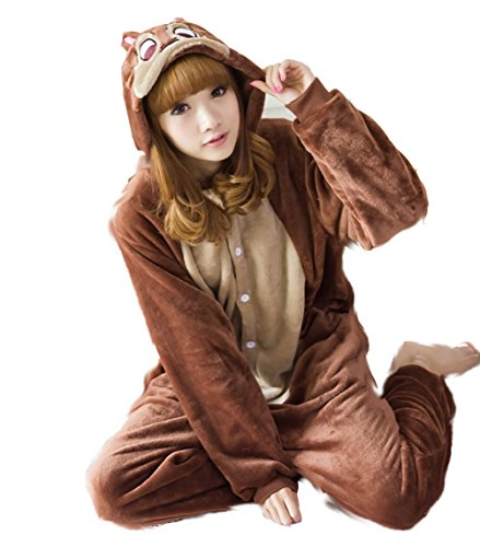 Winter Chipmunk Pajamas Cosplay Costume Footed Sleepwear For Women Men