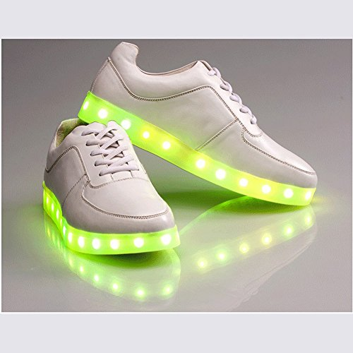 Acever Fashion Sneakers With Led Light Christmas Party Rave Dancing Prom Party Camping Flashing Adjustable Light (Us Size 7.5 For Women)