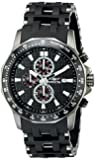 Invicta Sea Spider Men's Quartz Watch with Black Dial  Chronograph display on Black Stainless Steel Bracelet 1933