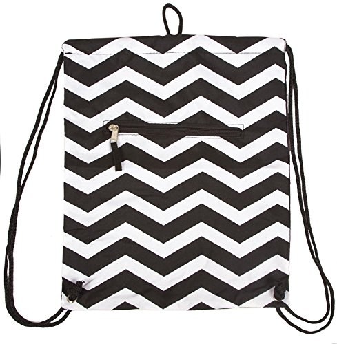 best-black-white-chevron-drawstring-cinch-bag-fun-unique-last-minute-birthday-stocking-stuffer-chris