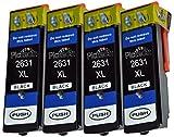 Compatible Epson Expression Premium XP-700 ink Cartridges - Replace Epson 26XL ink Cartridges (4 Large Black (2621)