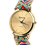 Suppion® New Women Knitted Braided Weaved Rope Band Bracelet Quartz Dial Wrist Watch