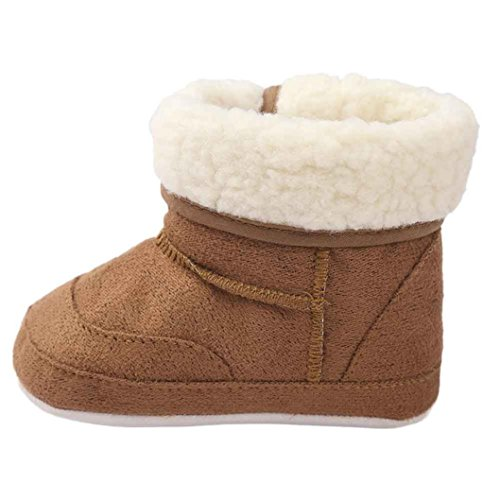 GBSELL New Casual Baby Toddler Winter Warm Sole Snow Boots Soft Crib Shoes (Coffee, 6~12 Month)