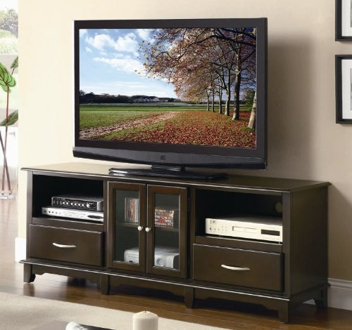 Cheap TV Stand with Cabinet and Drawers in Cappuccino Finish (VF_AZ00-85108×36746)