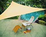 Windscreen4less® 12 x 12 x 12 Sun Shade Sail Canopy Beige - 3rd Generation - Commercial Grade - 5 Years Warranty