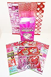 Valentines Day 24-Count Classroom Exchange Party Pack Gift Bundle Cards Candy & Baggies