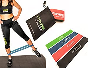 Resistance Bands | Non-Snap | Set of 4 Looped Exercise Bands | For Mobility & Strength, Injury, Physio, Rehabilitation, Yoga, Pilates, Cross Fit, HIIT, Boxing, | Our #1 Seller | Life Time Guarantee
