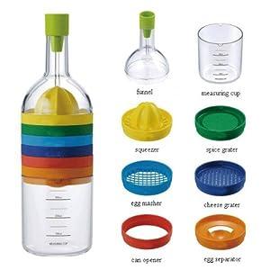 BradexTM Multipurpose Bin Bottle 8 in 1 Kitchen tool Citrus Orange Squeezer,... by Bradex