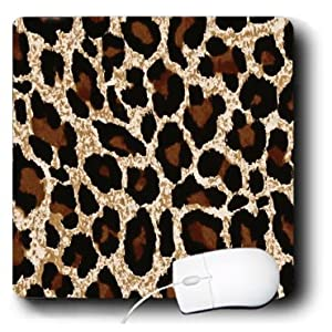 mp_28928_1 Lee Hiller Designs RAB Rockabilly - RAB Rockabilly Gold Brown and Black Cheetah Print - Mouse Pads