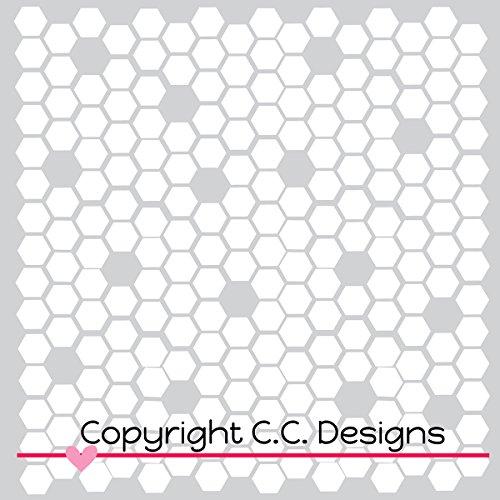 [해외]C. 디자인 스텐실 6 X6 - 꿀벌/C.C. Designs Stencils 6 X6 -Honeycomb