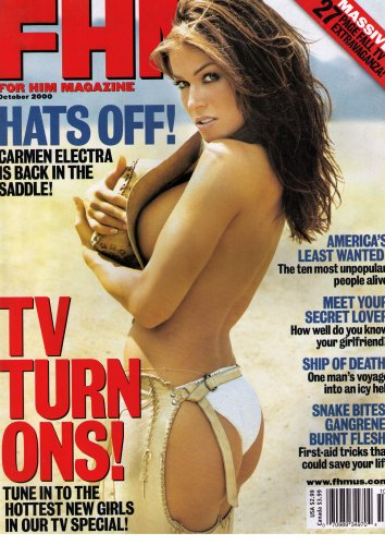 FHM For Him Magazine October 2000