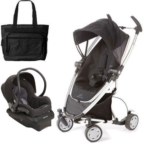 Quinny Zapp Xtra Travel System With Diaper Bag - Rocking Black front-701127