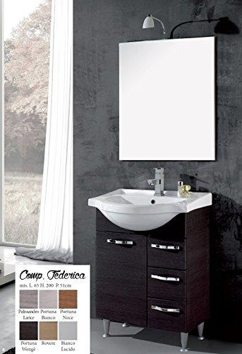 mobile da bagno moderno con lavabo composizione con specchio Federica Per arredo Bagno