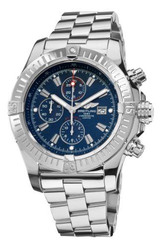 Breitling Men's A1337011/C757 Super Avenger Blue Chronograph Dial Watch