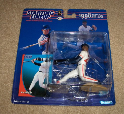 1998 Edition - Kenner - Starting Lineup - MLB - Mo Vaughn #42 - Boston Red Sox - Vintage Action Figure - w/ Trading Card - Limited Edition - Collectible - 1