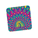 PosterGuy The Vibrant Peacock Illustration Coaster