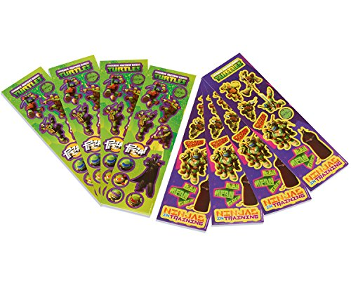Teenage Mutant Ninja Turtles Sticker Sheets, 8 Count, Party Supplies - 1
