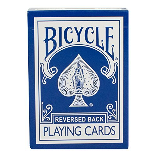Bicycle Rider Back Reverse Blue Ice Deck (Generation 2) with Gaff Cards for Magic - 1
