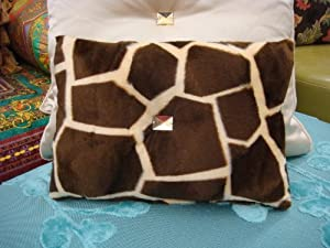 Giraffe Bling Boudoir Throw Pillow ....Gold & Brown 12 X 10