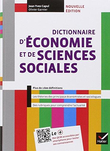 Dictionnaire d'économie et de sciences sociales éd. 2013