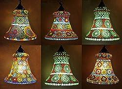 Mosaic Hanging Lamps & Lights Set Of 12 Pcs