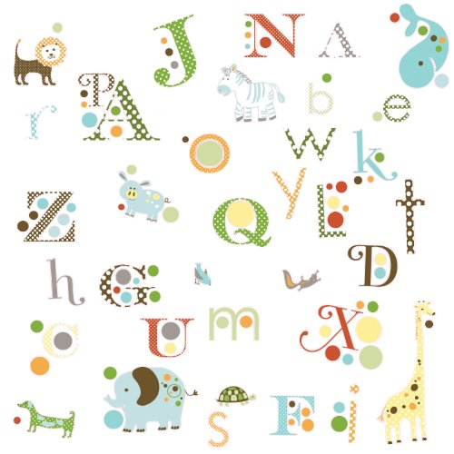 Roommates Rmk1440scs Animal Alphabet Peel