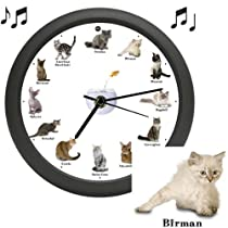 CAT CLOCK With MEOW SOUNDS